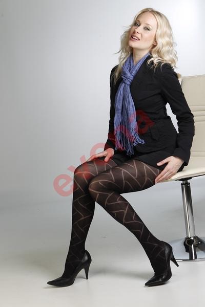 Zimní vzorované punčochové kalhoty Vendy