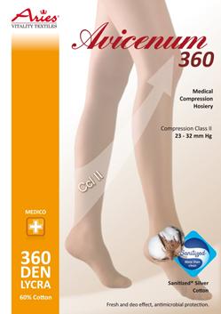 Avicenum 360 COTTON - zdravotní stehenní punčochy s lemem bez špice, antimikrobi (Avicenum 360 COTTON - zdravotní stehenní punčochy s lemem bez špice, antimikrobi)