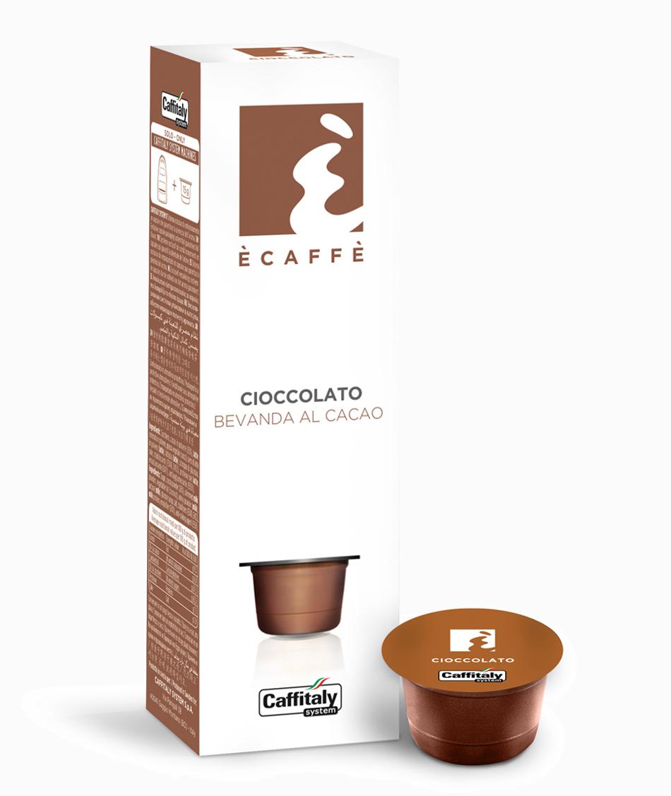 Ecaffé čokoláda kapsle Caffitaly - 10ks (horká čokoláda) - kompatibiln