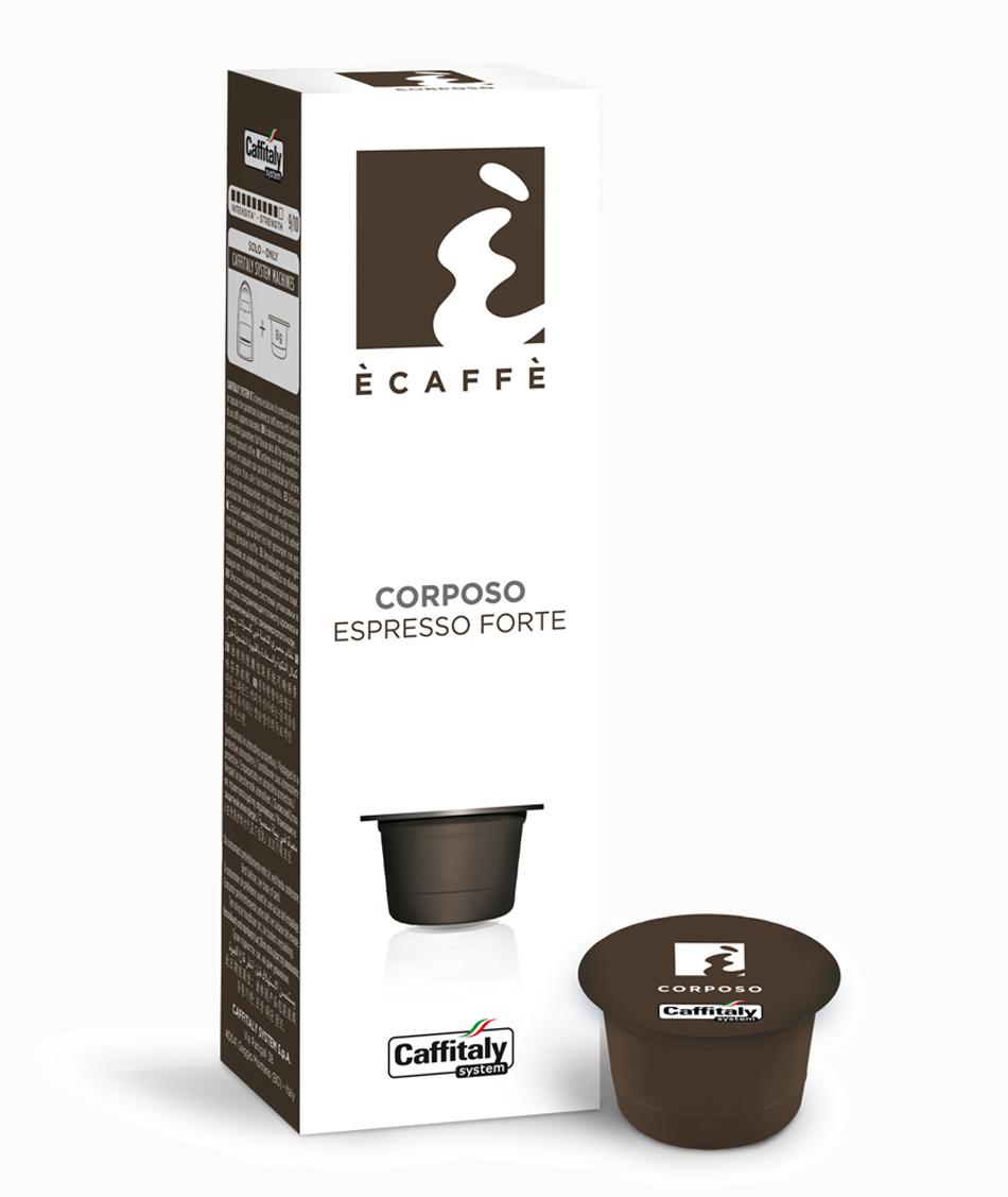 Ecaffé káva kapsle Caffitaly Corposo 10 kusů - kompatibilní s Tchibo