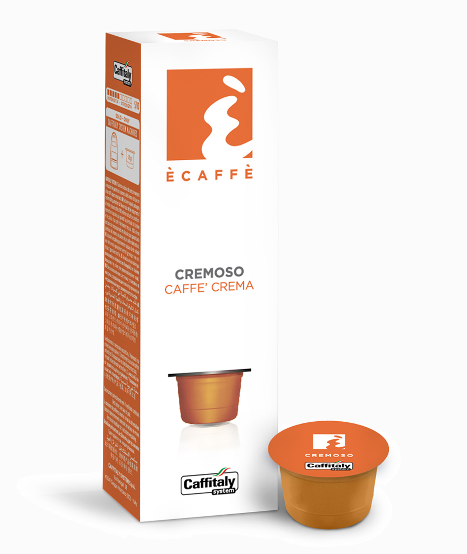 Ecaffé káva kapsle Caffitaly Cremoso 10 kusů - kompatibilní s Tchibo