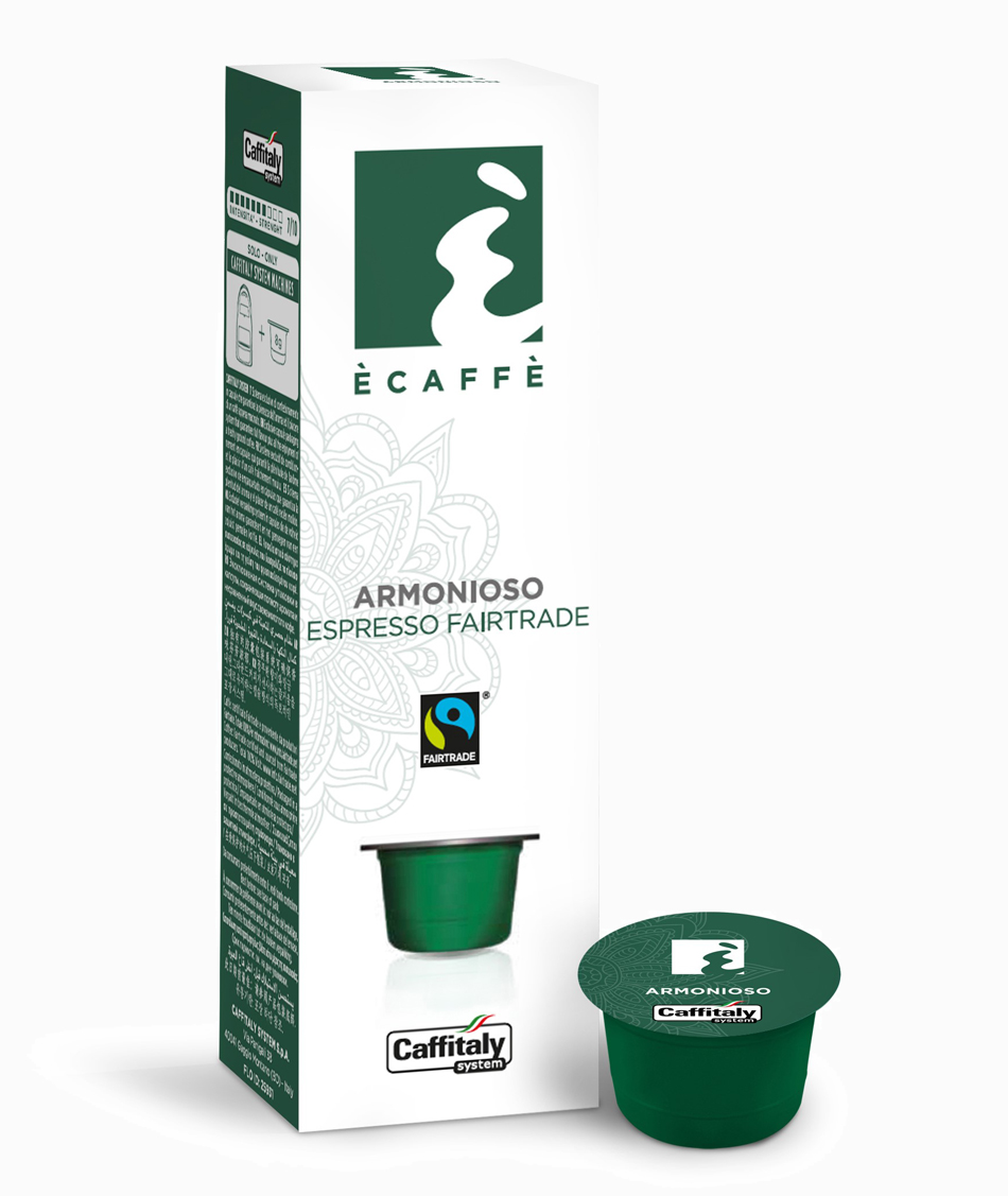 Ecaffé káva kapsle Caffitaly Armonioso 10 kusů - kompatibilní s Tchibo