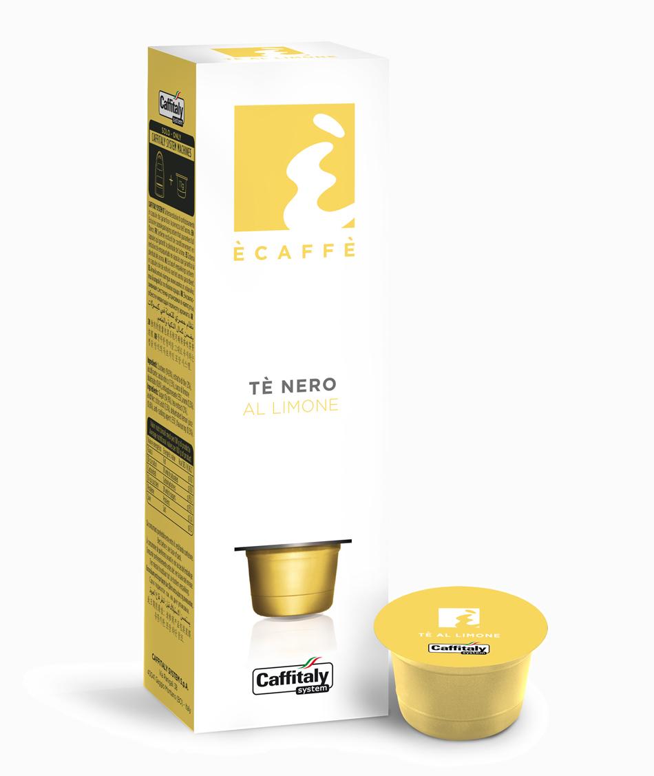 Ecaffé čaj citronový kapsle Caffitaly systém 10 kusů - kompatibilní s