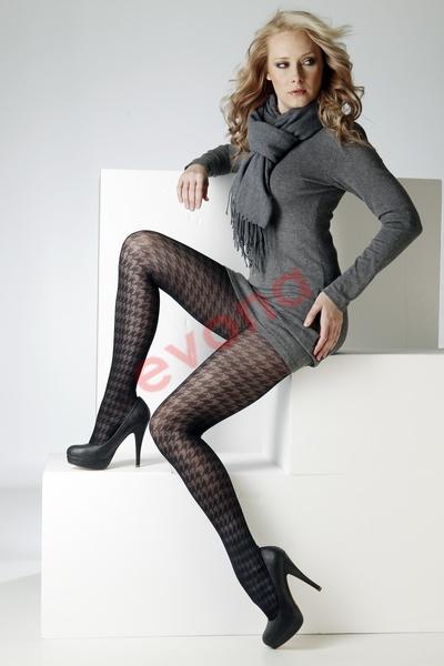 Dámské zimní vzorované punčochové kalhoty Roxana