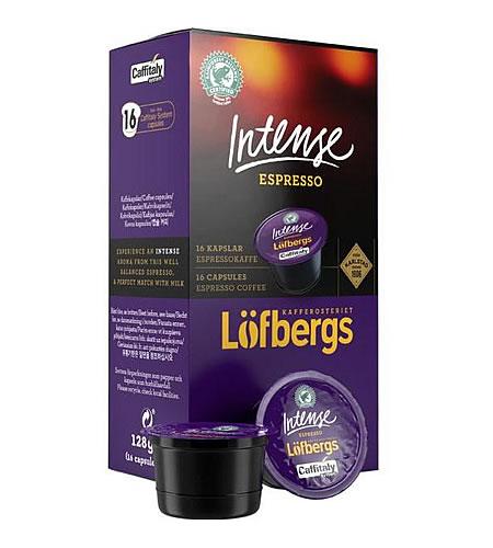 Löfbergs káva kapsle Caffitaly Intense espresso 16 kusů - kompatibilní