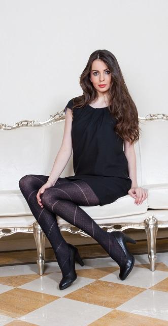 Dámské vzorované punčochové kalhoty Cristina (Dámské vzorované punčochové kalhoty Cristina)