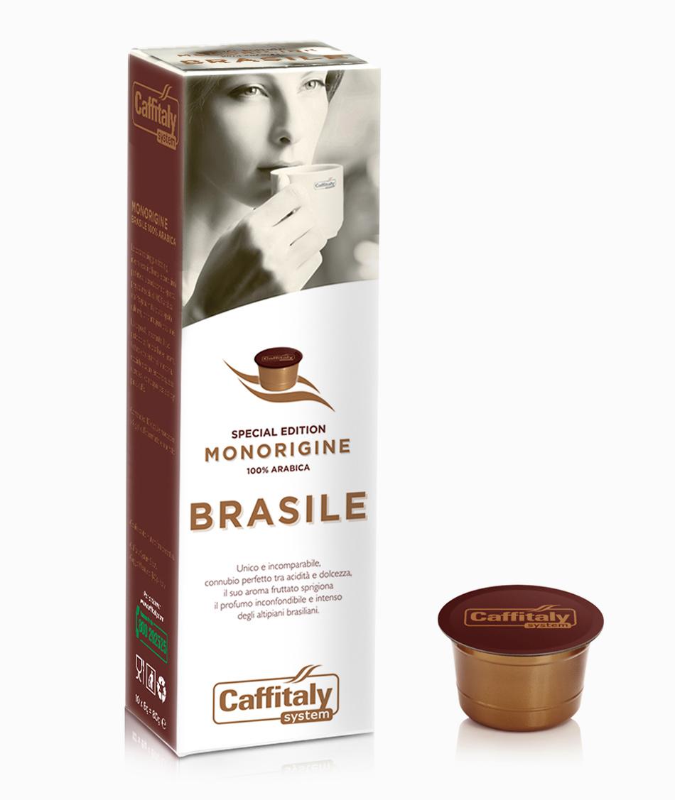 Ecaffé káva kapsle Caffitaly Brasile 10 kusů - kompatibilní s Tchibo