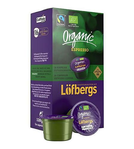 Löfbergs káva kapsle Caffitaly Organic espresso 16 kusů - kompatibilní