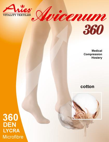 Avicenum 360 Cotton - zdravotní stehenní punčochy s krajkou, Skintex (Avicenum 360 Cotton - zdravotní stehenní punčochy s krajkou, Skintex)