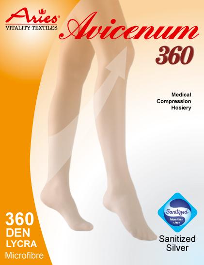 Avicenum 360 - zdravotní stehenní punčochy se špicí, lem, Sanitized (Avicenum 360 - zdravotní stehenní punčochy se špicí, lem, Sanitized)